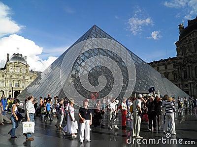 Paris, Louvre Museum Editorial Stock Photo
