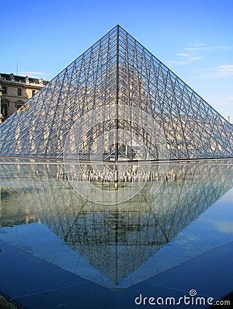 Free Paris - Louvre Pyramid Stock Photo - 7348750