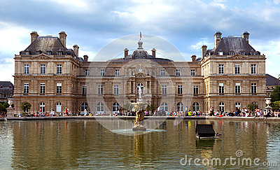 Paris - Luxembourg Palace Editorial Photography