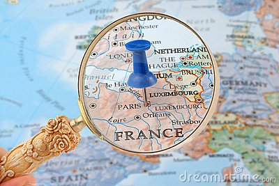 Paris map tack