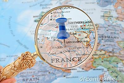 Paris map tack