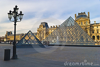 PARIS - March 20. Tourists enjoy at the Louvre Editorial Image