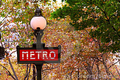 Paris metro Editorial Image