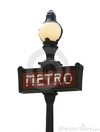 Paris metro sign Editorial Stock Photo