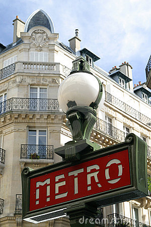 Paris Metro sign Editorial Stock Image
