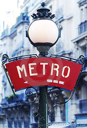 Free Paris Metro Sign Stock Images - 23385534