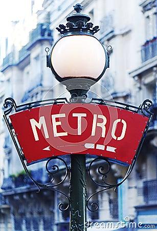 Paris metro sign Editorial Stock Image