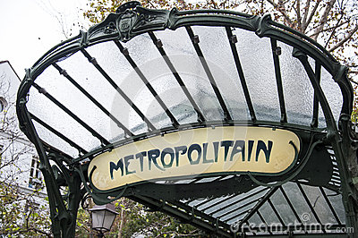 Paris metro sign Editorial Image