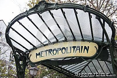 Paris metro sign Editorial Image