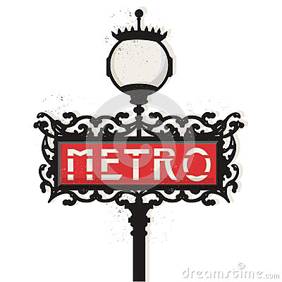 Paris metro sign vector Editorial Image