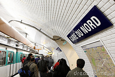 Paris metro station Editorial Image