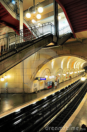 Paris Metro Station Editorial Photo