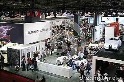 Paris Motor Show 2010 - visitors Editorial Stock Photo