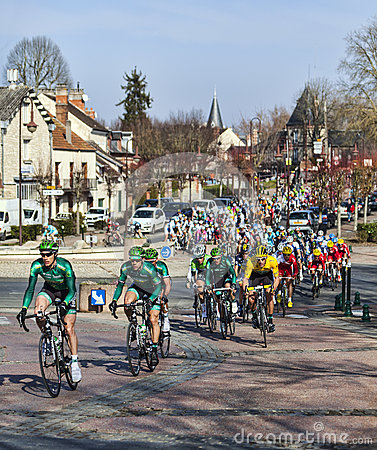 Paris Nice 2013 Cylcing Rrace- Stage 1 in Nemours Editorial Stock Image