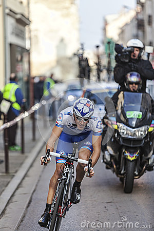 Paris- Nice Cycling Race Action Editorial Photography