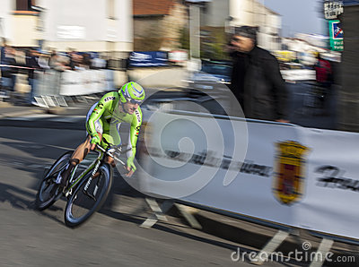 Paris- Nice Cycling Race Action Editorial Photo