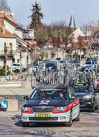 Paris Nice 2013 Cycling: Stage 1 in Nemours, France Editorial Image