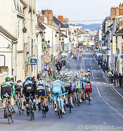 Paris Nice 2013 Cycling: Stage 1 in Nemours, France Editorial Stock Image