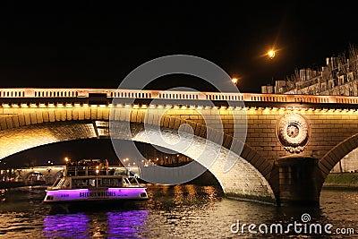 Paris by night Editorial Stock Image