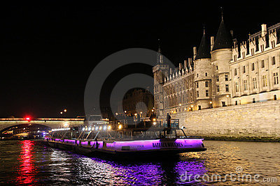 Paris by night Editorial Image