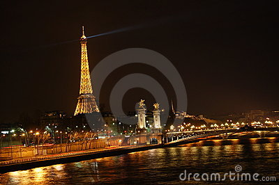 Paris at night Editorial Stock Image