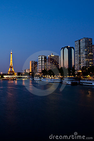Paris at night Editorial Photo