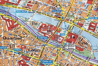 Paris no mapa