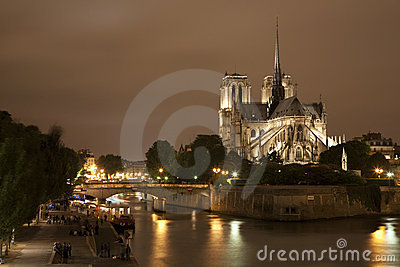 Paris - Notre Dama cathedral and riverside