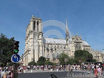 Paris, Notre Dame Editorial Photography