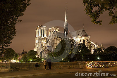 Paris - Notre-Dame in the night