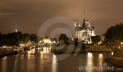 Paris - Notre-Dame At Night Stock Photography - Image: 20082862