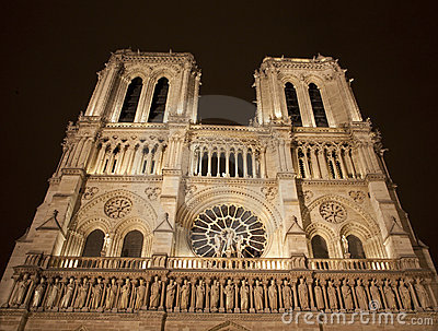 Paris - Notre Dame at night