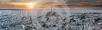 Paris Panorama - Eiffel Tower and Buildings