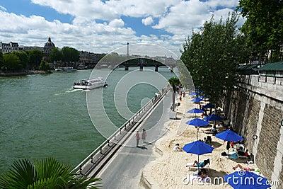 Paris-Plages beaches, France Editorial Stock Image