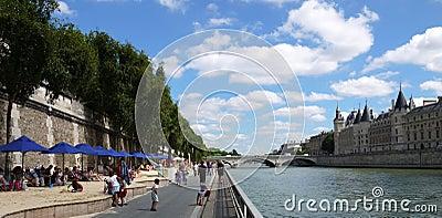 Paris Plages Editorial Photo