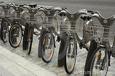 Paris, public bicycle rental
