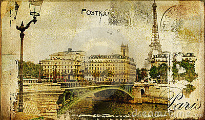 Paris- retro card