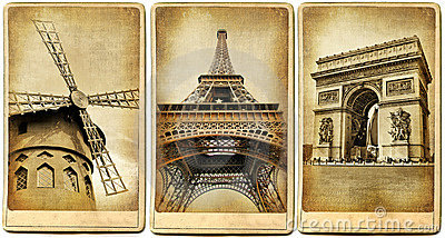 Paris- retro cards