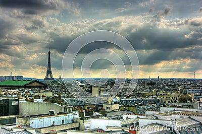 Paris roof tops view