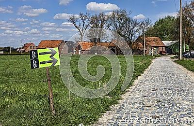 Paris Roubaix- Route Indicators Editorial Photo