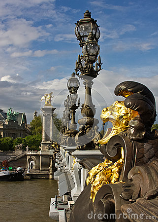 Paris s Pont Alexandre III and Grand Palais