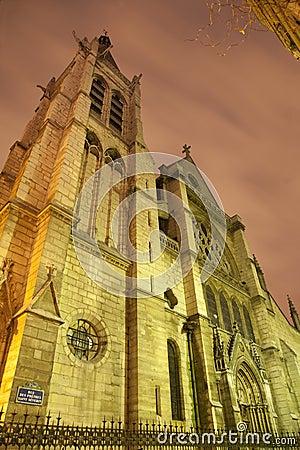 Paris - Saint Severin gothic church