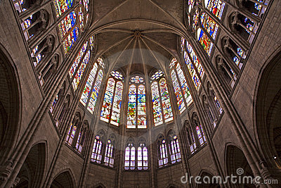 Paris - sanctuary of Saint Denis cathedral