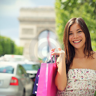 Free Paris Shopping Woman Stock Photography - 20186382