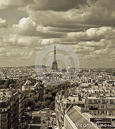 Free Paris Skyline Royalty Free Stock Photos - 20630738