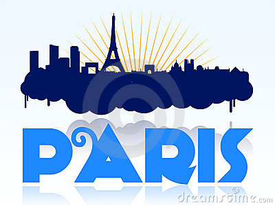 Paris skyline design logo