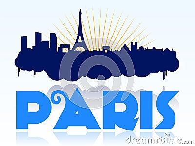 Paris skyline design logo