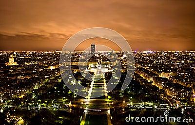 Paris Skyline at Night