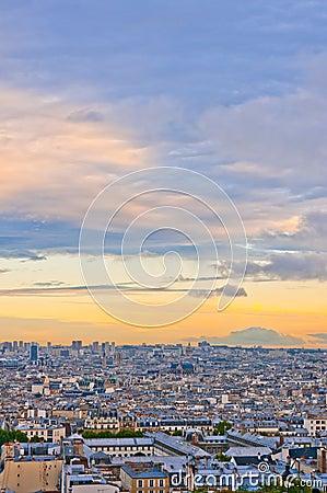 Paris skyline from the Sacre Coeur