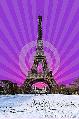 Free Paris - Snowy Eiffel Tower Royalty Free Stock Photography - 113677767